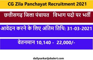 CG Zila Panchayat Recruitment 2021