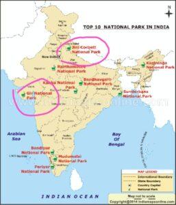 Jim Corbett National Park In Map
